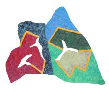 Barbara Schwartz, Forial, Painted Cast Paper Wall Sculpture