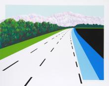 Joan Melnick, Swiss Road, Serigraph