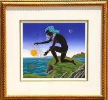 Thomas McKnight, Nubian Fisherman, Serigraph