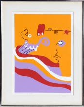 S. Cordoba, About Faces, Serigraph