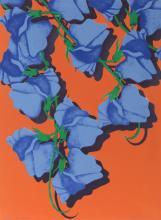 Melanie Greene, Summer (Blue Corsage), Serigraph