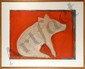 Selina Trieff, Pig with Orange, Oil Painting, Selina Trieff, Click for value