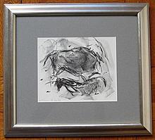 Elaine de Kooning, Two Bulls, Lithograph