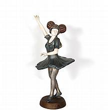 T. Curts, Dancer, Bronze Sculpture
