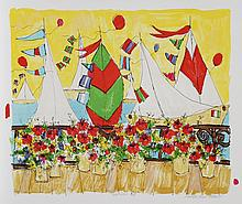 Susan Pear Meisel, America's Cup, Lithograph