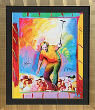 Peter Max, Jack Nicklaus, Lithograph Autographed by Nicklaus