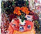 Dimitrie Berea, The Red Flowers at Johanisberger, Germany, Oil Painting
