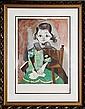Pablo Picasso, Petite fille a la robe verte, Lithograph