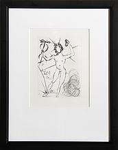 Salvador Dali, Mercury, Etching