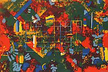 William Taggart, Orange Abstract, Serigraph