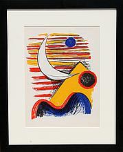 Alexander Calder, La Lune et La Montagne Jaune, Lithograph
