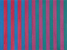 Marco DeMarco, Red and Blue No. 2, Acrylic Painting