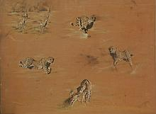 Jean Ettner, The Chase, Pastel Drawings on Velvet