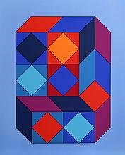 Victor Vasarely, VY-29-F from Album Xico, Serigraph