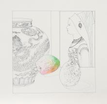 Josef Levi, Still Life with Hans Maler 1, Serigraph