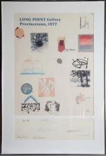 Long Point Galler Poster Signed by Motherwell, Rothschild and more
