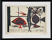 Pablo Picasso, Vase of Flowers, Serigraph Poster