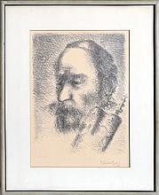 Chaim Gross, In Front of the Ark, Lithograph