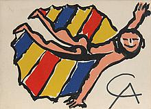 Alexander Calder, Invitation to Sandy's Air Party, Lithograph