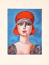 Franco Gentilini, Portrait of a Woman, Lithograph