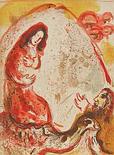 Marc Chagall, Rachel steals her Father's Graven Images, Lithograph