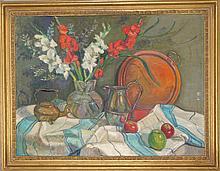 Adela Smith Lintelmann, Still Life with Silver Kettles (24), Oil Painting