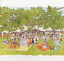 Susan Pear Meisel, A Day At The Park, Lithograph