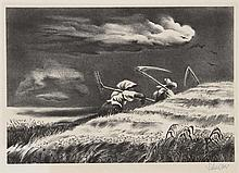 Georges Schreiber, Going Home, Lithograph
