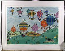 Jack Hofflander, Balloon Race, Serigraph