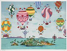 Jack Hofflander, Tropical Balloons, Lithograph