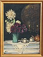 F. Weber, Still Life with Flowers, Oil Painting