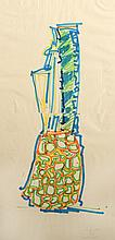 John Chamberlain, Blue Pineapple, Marker Drawing