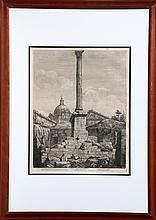 Luigi Rossini, Colonna Dell Imperatore Foca, Etching