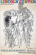 Ben Shahn, Lincoln Center for the Performing Arts, Offset Lithograph