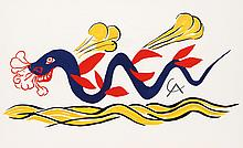 Alexander Calder, Beastie (Design for Braniff Airlines), Lithograph