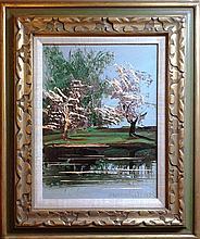 Morris Katz, Spring Trees, Oil Painting