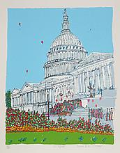 Susan Pear Meisel, The Capitol, Screenprint