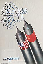 USA / Russia Peace, Political Poster