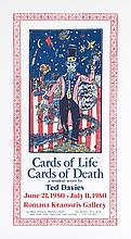Ted Davies, Cards of Life, Cards of Death Exhibition, Woodcut Poster