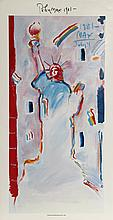 Peter Max, Statue of Liberty 1, Poster