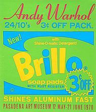 Andy Warhol, Brillo Soap Pads - Pasadena Art Museum Poster, Screenprint Poster