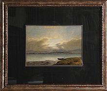Hermann Eschke, Boat on Land, Watercolor Painting