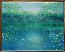 John DeKay, Sunlight on Water, Oil Painting
