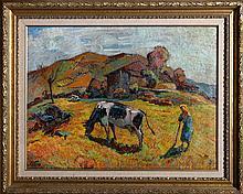 Ugo Setti, In Valdumentina, Oil Painting