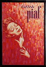 John Douglas, Edith Piaf, Lithograph Poster