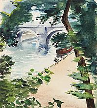 Eve Nethercott, Canal (P2.51), Watercolor Painting