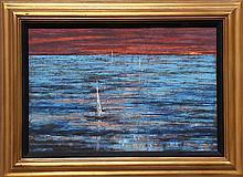 Richard Florsheim, Becalmed, Oil, Wax and Gesso on Board