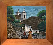 Jose Antonio Velasquez, San Antonio de Oriente Honduras - Street, Oil Painting