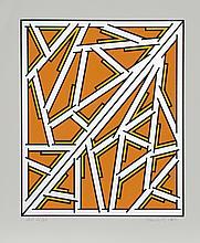 Nicholas Krushenick, Orange One Variant, Serigraph