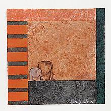 Ariela Tsvibel, Elephants 2, Silkscreen